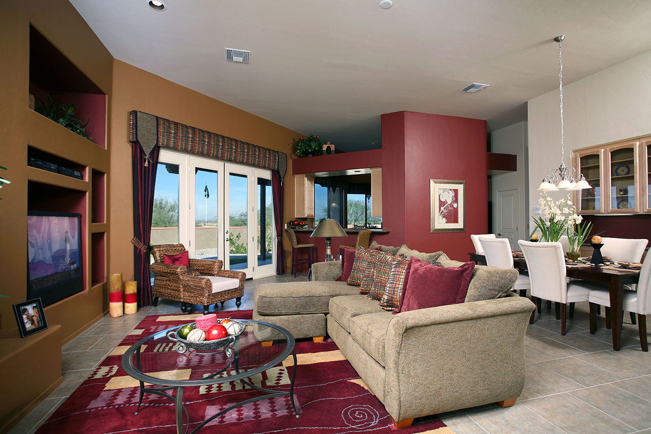 Model home 1 designlines az Model home family room pictures