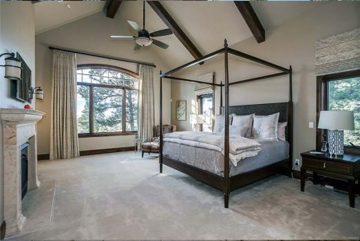 Custom built 4 poster bed american made by the New Traditionalist is the key feature for this master suite.