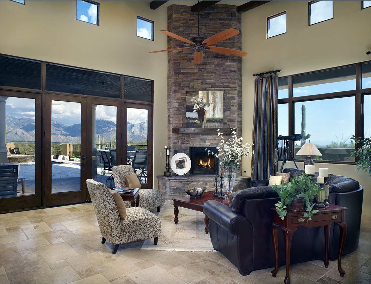 travertine living room ~ qvitter