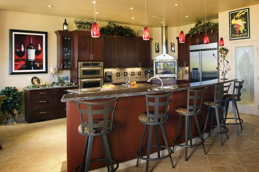 You can never have too many wine accouterments to complete this wine themed kitchen.