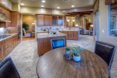 Kitchen and Breakfast Nook - Island feature has a cabriolet furniture leg.